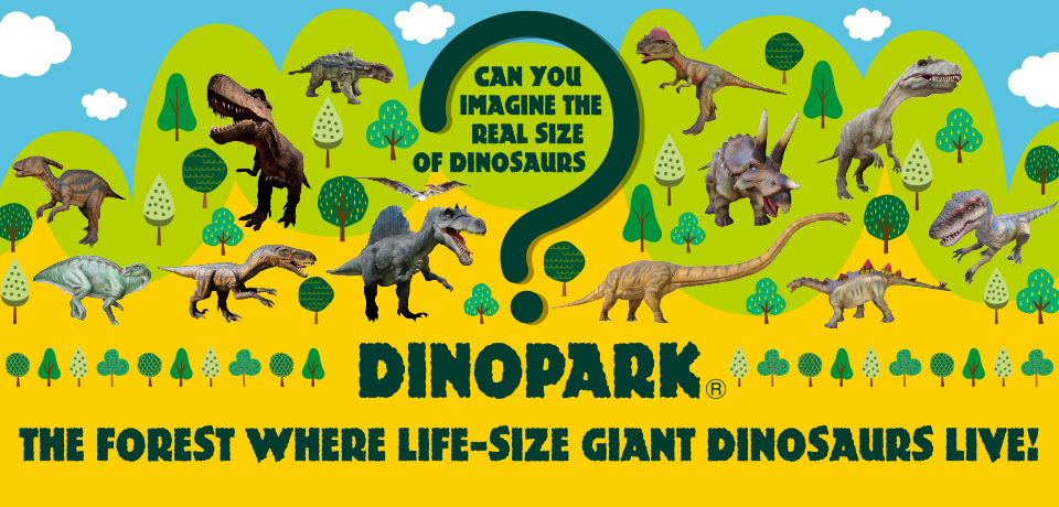 The forest where life-size giant dinosaurs live! - Dinopark